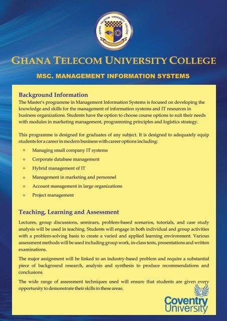 MSC MANAGEMENT INFORMATION SYSTEMS cdr - GTUC