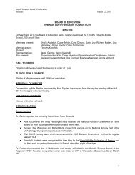 March 22, 2011 Regular Meeting Minutes - South Windsor Public ...