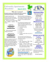 University Apartments Newsletter - UCLA - Housing