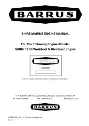 Shire Owners' Manual (12 Build) 50 Workboat ... - EP Barrus
