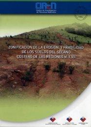 Zonificacion de la erosion y fragilidad de los suelos del secano ...
