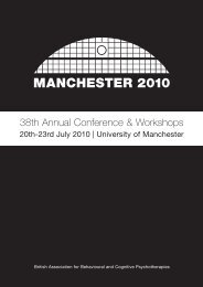 Conference Programme - BABCP Conference
