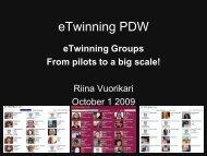 eTwinning Groups?