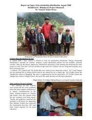 Report on Scholarship Students - Himalayan Project