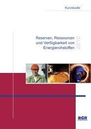 Reserven, Ressourcen und Verfügbarkeit von Energierohstoffen