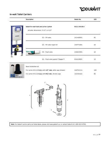 geberit wall hung toilet installation instructions