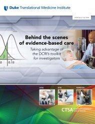Behind the scenes of evidence-based care - DTMI - Duke University