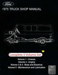 DEMO - 1975 Ford Truck Shop Manual - ForelPublishing.com