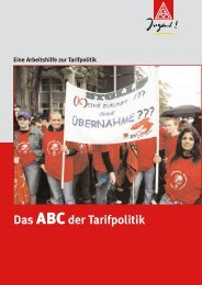 Das ABC der Tarifpolitik - IG Metall Baden-Württemberg