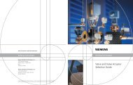 Valve and valve actuator selection guide - automation - Siemens