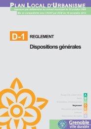 Dispositions générales - Grenoble