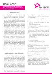 Regulamin e-faktura_e-płatność.cdr - Promocje TAURON