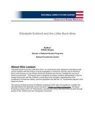 Elizabeth Eckford and the Little Rock Nine - National Constitution ...