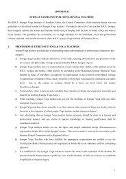 1 APPENDIX B ETHICAL GUIDELINES FOR IYENGAR ... - Plusto.com