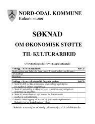 Søknad om økonomisk støtte til kulturarbeid - Nord-Odal Kommune