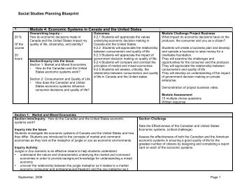 Social Studies Planning Blueprint Module 4 ... - Teach AnyWare