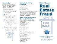 Real Estate Fraud Brochure - Sacramento County District Attorney