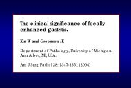 The clinical significance of focally enhanced gastritis.