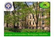 Latvijas Universitātes Bioloăijas fakultāte