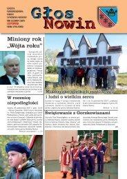 Głos Nowin listopad 2007 - Urząd Gminy Sitkówka-Nowiny