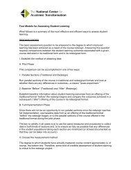 Four Models for Assessing Student Learning - National Center for ...
