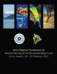 2012 AGU Chapman Conference on Remote Sensing of the ...
