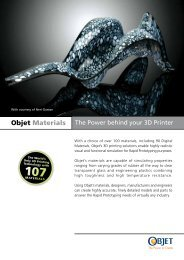 Objet Materials brochure (PDF) - Laser Lines Ltd.