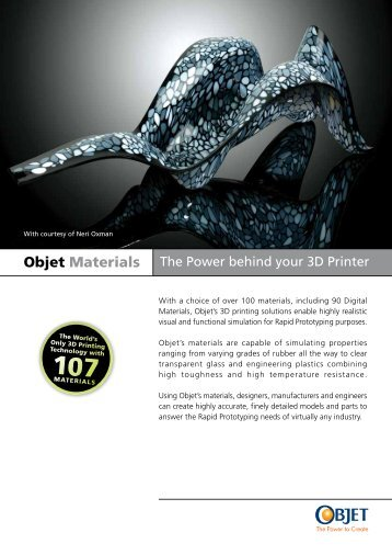 Objet Materials brochure (PDF) - Laser Lines Ltd.