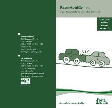 PostaAutóÔr (1 3021) - Biztositasifeltetelek.hu