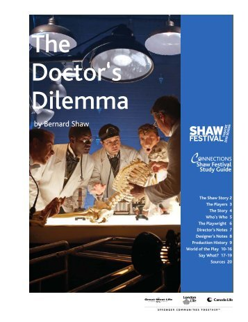 The Doctor's Dilemma - Shaw Festival Theatre
