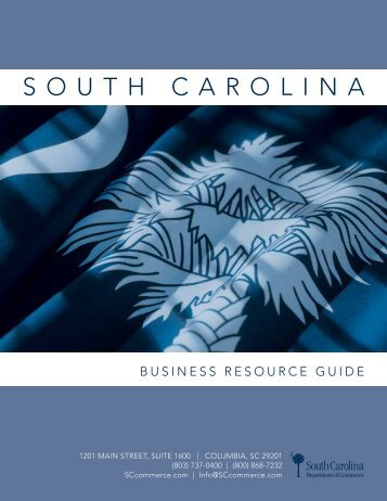 Business Resource Guide - South Carolina Department of Commerce
