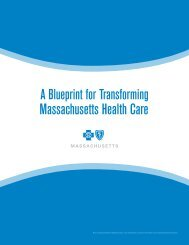 A Blueprint For Transforming Massachusetts Health Care