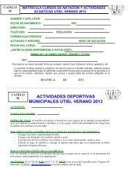 actividades deportivas municipales utiel verano 2013 - gva