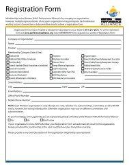 Registration Form - Western HVAC Performance Alliance