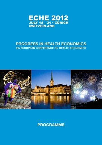 ECHE 2012 - European Conference on Health Economics
