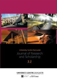 UCD Journal of Research and Scholarship Vol 3 Issue 2 - Doncaster ...