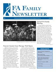 FA Family Newsletter Fall 04 - Fanconi Anemia Research Fund
