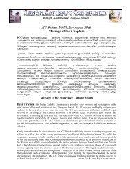 ICC Parish Bulletin Vol.1.2 July - August 2006 released on 25.06.2006