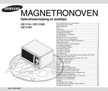 Samsung CE117 A-X combimagnetron - Wehkamp.nl