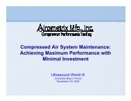 Compressed Air System Maintenance: Achieving ... - UE Systems Inc