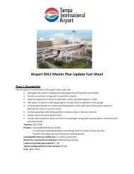 Airport 2012 Master Plan Update Fact Sheet - Tampa International ...