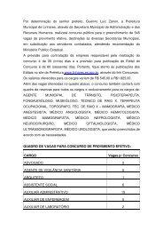 Por determinação do senhor prefeito, Guerino Luiz Zanon ... - Linhares
