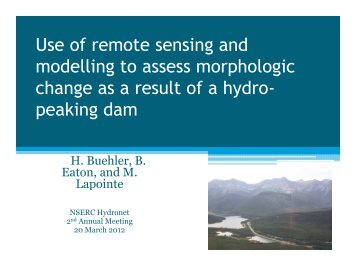 Use of remote sensing and modelling to assess ... - HydroNet