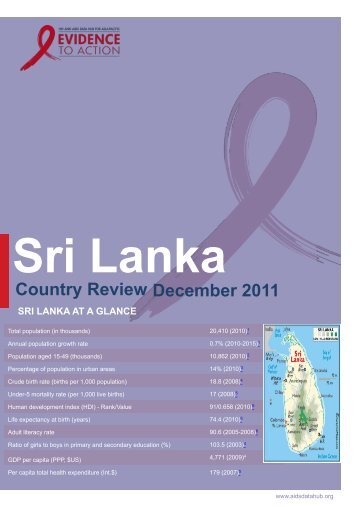 Sri Lanka Country Review 2011 HIV and AIDS Data Hub for Asia ...