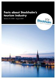 Facts about the tourism industry in Stockholm 2009 - Press ...