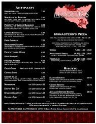 Risotto - Monastero's - Ristorante & Banquets