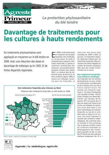 Davantage de traitements pour les cultures à hauts ... - Agreste