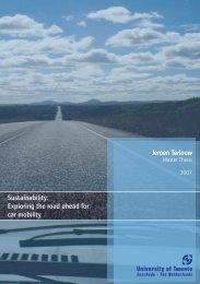 Sustainability. Exploring the road ahead for car mobility - Universiteit ...