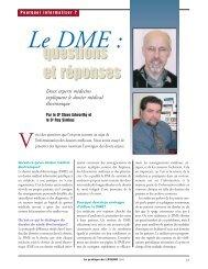 Le DME : questions et réponses