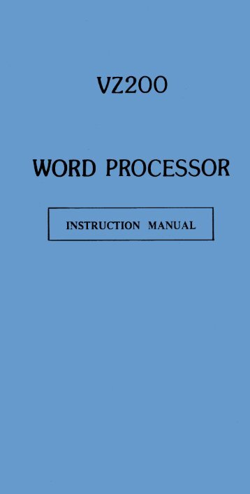 Word Processor Manual - The MESSUI Place
